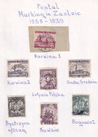 POLAND 1938-39 ZAOLZIE Cancels - Unused Stamps