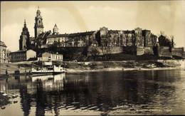 CPA Kraków Krakau Polen, Weichselpartie Mit Blick Auf Burg Wawel - Poland