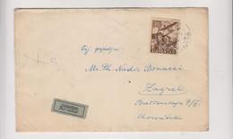 SLOVAKIA. 1944 BRATISLAVA WW II Airmail Censored Cover To Croatia - Cartas