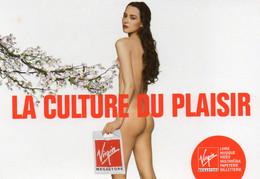 CPM - M - PUBLICITE VIRGIN MEGASTORE - LA CULTURE DU - NU - Advertising