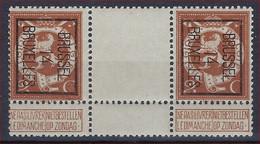 PELLENS Nr. 109 TYPO PREO Nr. 50B  BRUSSEL 14 BRUXELLES Met TUSSENPANEEL ** MNH In Goede Staat ! - Typos 1912-14 (Lion)