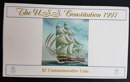 "Marshall Islands 5$ 1997. KM-398. BU. Mint Pack. Sailing Ship ""Constitution"" - Marshall Islands"