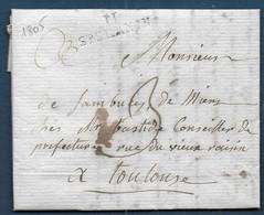 Aveyron -   11 / ST SERNIN  Sur Lettre  De 1805 - 1801-1848: Precursores XIX