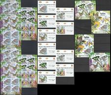 BU070 IMPERF,PERF 2012 BURUNDI PROTECTION NATURE BUTTERFLIES 12KB+12BL MNH - Papillons