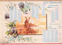 """02038 """"CALENDARIETTO 1900 - ARTE MINUSCOLA - SETTIMANALE DIRETTO DA EDITORE CORDIER - ABBONAMENTO ANNUO"""" - Big : ...-1900"""