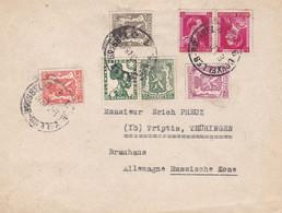 Timbres Pub Et Tête-bêche Sur Lettre Du 16.03.1948 Vers L'Allemagne - Reclame