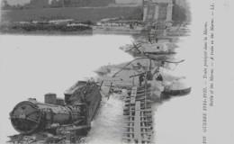 GUERRE DE 14-18 - TRAIN PRECIPITE DANS LA MARNE - VERS 1914 - Weltkrieg 1914-18