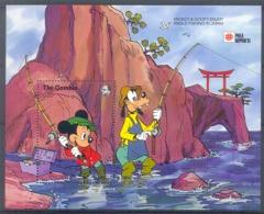 Nct331 WALT DISNEY MICKEY AND GOOFY ENJOY ANGLE FISHING IN JAPAN PHILA NIPPON GAMBIA 1991 PF/MNH - Disney