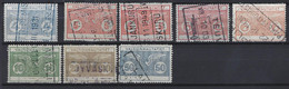 Finland Railway State Railways Nice Lot Of 8 Different Stamps.Used - Paketmarken