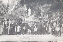 Cartolina - Grotta Della Vergine Di Lourdes Martassina ( Ala Di Stura ) 1900 Ca. - Sin Clasificación