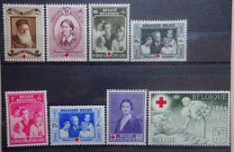 BELGIE 1939    Nr. 496 - 503   Spoor Van Scharnier *  CW 14,00 - Nuevos
