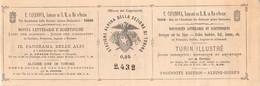 """02043 """"TORINO-F. CASANOVA, LIBRARIO DI S.M. IL RE D'ITALIA-INGRESSO STAZIONE ALPINA SEZIONE DI TO-CAI NR 2432"""" BIGLIETTO - Tickets - Entradas"""