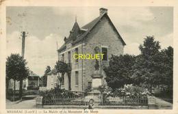 35 Médréac, Mairie Et Monument Aux Morts, Carte Pas Courante - Other Municipalities