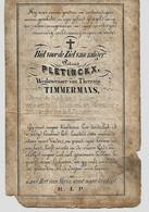 Souvenir Mortuaire PLETINCKX Petrus (1793-1865)  Geboren Te GOYCK Overleden Te ONZE-LIEVE-VROUW-LOMBEEK - Andachtsbilder