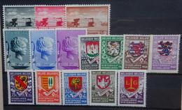 BELGIE 1940      Nr. 523 - 537  /  538 - 546   Scharnier *    CW 20,00 - Nuevos