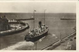 76 DIEPPE DEPART DU COURRIER D'ANGLETERRE CPSM CIRCULEE 1952 - Transbordadores