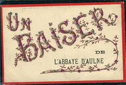 Aulne Abbaye Un Baiser (carte Avec Paillettes ) - Andere