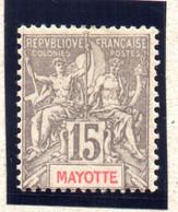 MAYOTTE : TP N° 16 * - Unused Stamps