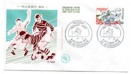 1982 --FDC ...Sport -- RUGBY   ---- ...Cachet   BORDEAUX  - 33 - 1980-1989