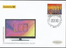 2018 Deutschland  Allem. Fed. Germany   Mi. 3427 FDC  Mikrowelten : Flüssigkristallanzeige (LCD) (40-fache Vergrößerung) - FDC: Enveloppes