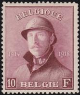Belgie       .    OBP     .   178  (2 Scans)      .     *      .  Ongebruikt     .   /   .    Neuf Avec Charnière - 1919-1920 Trench Helmet