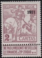 Belgie    .    OBP     .   94  Opdruk?  (2 Scans)  .     **      .  Postfris     .   /   .    Neuf SANS Charnière - 1910-1911 Caritas