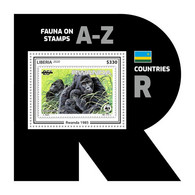 LIBERIA 2020 MNH WWF R-Countries R-Länder Pays-R Rwanda 1985 S/S II - OFFICIAL ISSUE - DHQ2039 - Nuevos