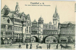 Frankfurt - Das Neue Rathaus Auf Dem Paulsplatz - Francfort - La Nouvelle Mairie Sur La Place Du Pape - Frankfurt A. Main