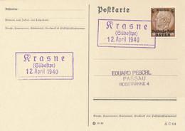 KRASNE (Südostpr)  -  1940  ,   Postnebenstempel , Landpoststempel  - - Machine Stamps (ATM)