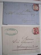 ALSACE/LORRAINE - 4 Lettres D'Alsace-Lorraine Du 19 ème Siècle Dont 3 De Metz Et Une De Mulhouse - 2 Photos - Alsace-Lorraine