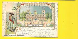 BORDEAUX Rare Litho Expo 1900 Pérou (Nouvelles Galeries) Gironde (33) - Bordeaux