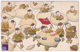 Rare CPA Correspondance Guerre 14-18 - Soldat Ecosse Kilt Angleterre œuf Géant Cassé Tank Cornemuse Patriotisme D1-196 - War 1914-18