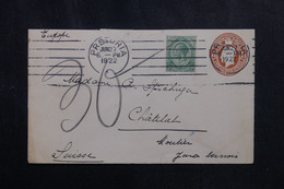 AFRIQUE DU SUD - Entier Postal + Complément De Prétoria En 1922 Pour La Suisse  - L 72277 - Storia Postale