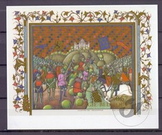 Blok 96 Guldensporenslag  Zwart Wit Velletje 2002 Bl96zw - Foglietti Bianchi & Neri