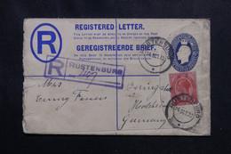 AFRIQUE DU SUD - Entier Postal + Complément De Rustenburg En 1922 Pour L 'Allemagne - L 72287 - Storia Postale