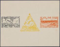 """Erinnophilie - E7/9 Feuillet De Luxe """"Premier Courrier Par Fusée"""" (Duinbergen, 1935). ** MNH, Neuf Sans Charnières - Commemorative Labels"""