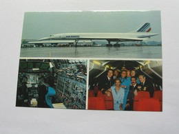 Carte Postale CONCORDE - Uberschall Flugzeuges Der Air France In Nurnberg  **** EN ACHAT IMMEDIAT **** - 1946-....: Era Moderna