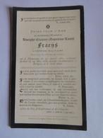 Faire-part Décès Aumonier Militaire A. Fraens Thourout 1831 Bruges 1899 - Todesanzeige