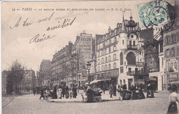 75 PARIS Le Moulin Rouge Et Boulevard De Clichy ,vendeuses Ambulantes Avec Charrettes à Bras - District 09