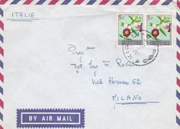 RWANDA - BUSTA VIAGGIATA BY AIR MAIL - KIZIGURO - VIAGGIATA PER MILANO - ITALY - 1962-69: Usados