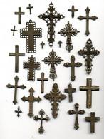 Ensemble Médailles Ou Décorations (?) Ancienne (fin XIXème - Début XXème) / Croix - Godsdienst & Esoterisme