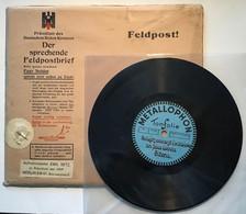 ROTKREUZ SCHALLPLATTENBRIEF ~1943 Feldpost RARITÄT(Deutsches Reich Brief WW2 War 1939-1945 Croix Rouge Red Cross Disque - Storia Postale