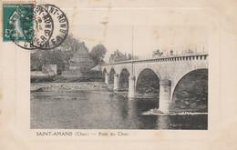 CARTE POSTALE  SAINT AMAND MONTROND 18  Pont Sur Le Cher - Saint-Amand-Montrond