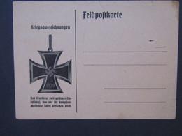 Feldpostkarte Kriegsauszeichnungen Großkreuz 1939 - Weltkrieg 1939-45
