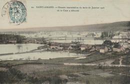 CARTE POSTALE  SAINT AMAND MONTROND 18  Grande Inondation Du Mois De Janvier 1906 Où Le Cher A Débordé - Saint-Amand-Montrond