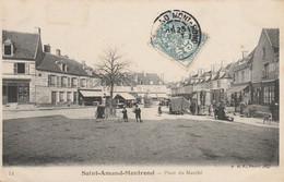 CARTE POSTALE  SAINT AMAND MONTROND 18  Place Du Marché - Saint-Amand-Montrond