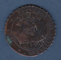 10 C - 1861 A - NAPOLEON III - UTILISATION DE CETTE MONNAIE PAR UN MILITAIRE POUR MATERIALISER SA DUREE D'INCORPORATION - D. 10 Centimes