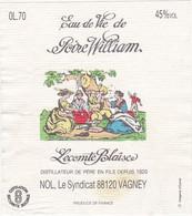 Etiquette Eau De Vie De Poire William / Lecomte Blaise NOL (88) VAGNEY - Fruits & Vegetables