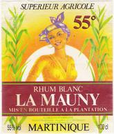 Etiquette RHUM BLANC LA MAUNY MARTINIQUE - Rhum