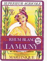 Etiquette RHUM BLANC DES PLANTATIONS LA MAUNY MARTINIQUE - Rhum